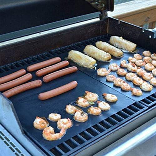 Barukra Couvertures de Barbecue Poêles de revêtement de poêle à Frire Tapis de Cuisson réutilisables Tapis antiadhésifs Outil de Cuisine Pad Tapis de Barbecue