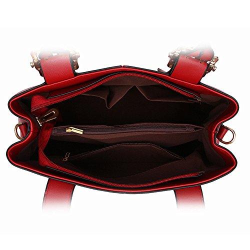 MIMI KING Einfache Tote Schulter Crossbody Handtasche Fashion Trend Damen Designer Satchel Messenger Bag DarkGray XfMvXS1
