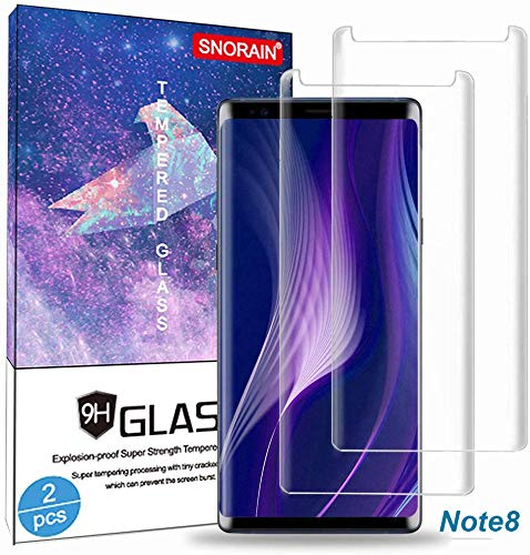 Galaxy Note 8 Screen Protector, (2-Pack) Tempered Glass Screen Protector [Force Resistant up to 11 pounds] [Easy Bubble-Free] [Case Friendly] for Samsung Note 8
