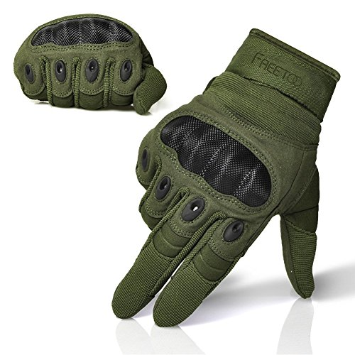 FREETOO Men's Outdoor Gloves Full Finger Cycling Motorcycle
