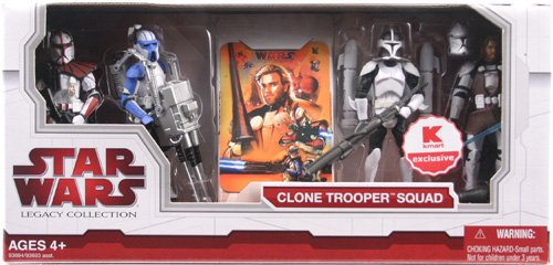Star Wars Legacy Collection Exclusive Clone Trooper Squad