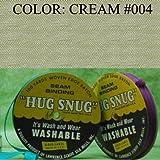 "100yds 1/2"" Schiff Seam Binding Hug Snug Ribbon Color Cream #004"