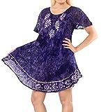 Best La Leela Bottom Covers - LA LEELA Rayon Tie Dye Wedding Tunic Long Review