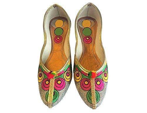 Schritt N Style handgefertigt Leder Schuhe Panjabi jutti indischen Schuhe Khussa Schuhe mojari Mehrfarbig