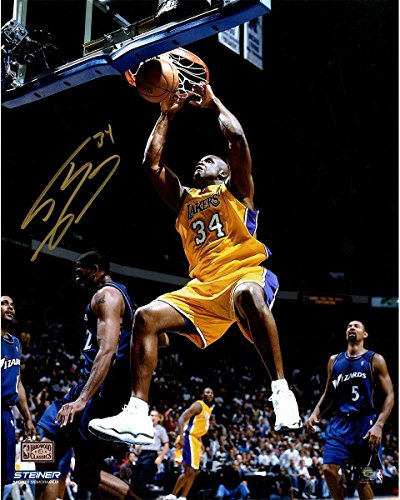 SHAQUILLE O'NEAL Autographed Lakers