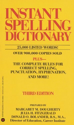 Instant Spelling Dictionary by Margaret M. Dougherty (1990-11-01)
