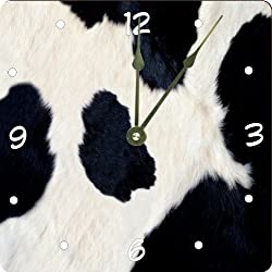 Rikki Knight Cow Hide Design 6 Art Desk Clock