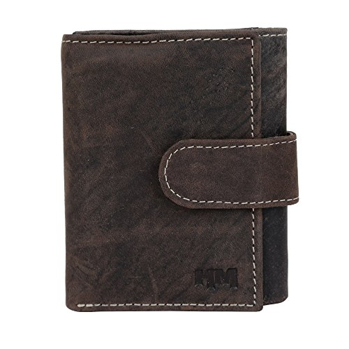 Hidemaxx Genuine Leather Trifold Wallet,Vintage Look Leather