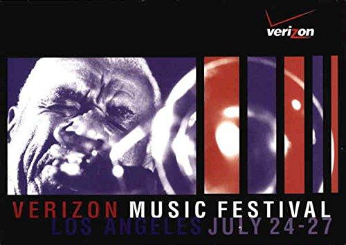 Verizon Music Festival Los Angeles, California Original Vintage Postcard