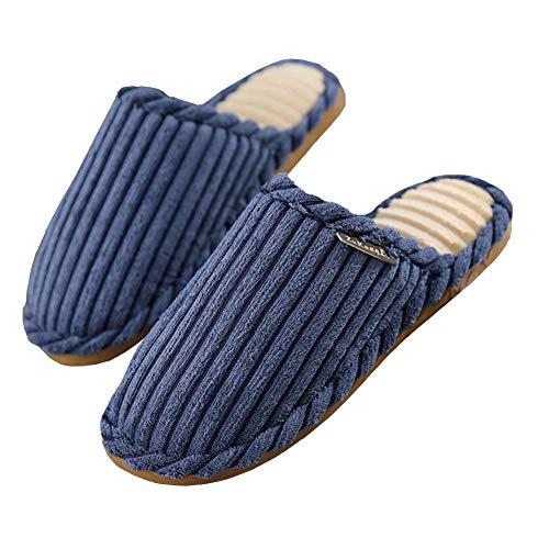Zapatilla Casa casual Algodón Zapatos Pana Zapatillas Calentar Unisexo Felpa Sfhk Navy Corta invierno Interior PRqSx7