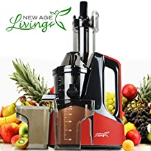 New Age Living SJC-1500 Masticating Slow Juicer Machine | Best 45 RPM Cold Press Juicing Speed | Juices Whole Fruits, Vegetables, & More | Premium Quality With 5 Year Warranty