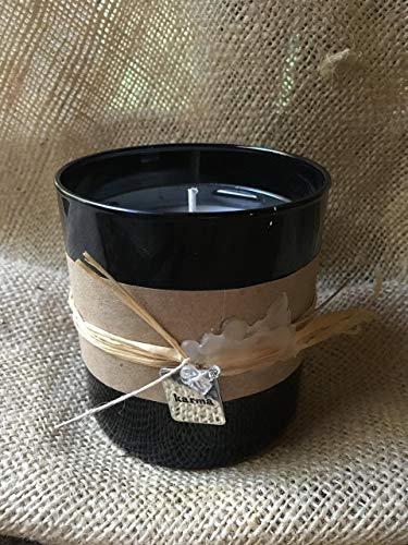 Handmade Karma Candle, Crystal Quartz Gemstone, Balancing Scent, Reiki Charged, 11 Oz. ()