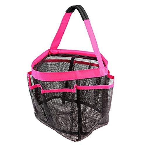 (Ameglia Beach Storage Bag Carry Bag Hanging Toiletry Bath Organizer for Travel Gym (Color - Rose Red))