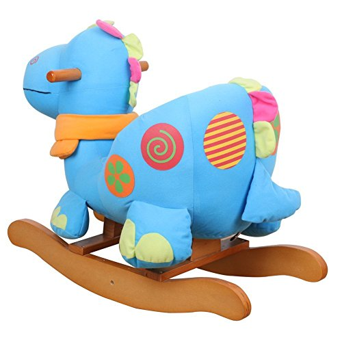 Rocking Toys For Boys : Labebe wooden rocking horse for toddler boy girl