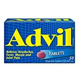 Advil Tablets (50 Count), 200 mg ibuprofen, Temporary Pain Reliever / Fever Reducer
