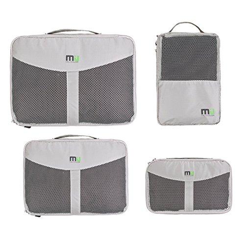 MIU COLOR®Kleidertaschen 4er-Set Nylon Organizer Tasche Aufbewahrungsbox Schuhbeutel (grau)