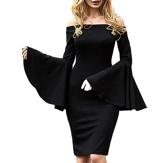 4687882f3bc Amazon.com  Zainafacai Women s Flare Bell Sleeve Holiday Bodycon Dress