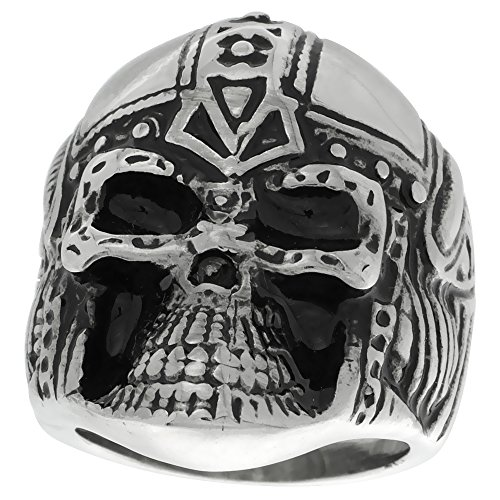 Stainless Steel Warrior Skull Helmet