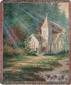 Manual Woodworkers & Weavers Tapestry Throw, Be Still Psalm 23:2, 50 x 60 ()