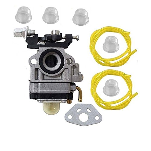 2 Cycle Engine Fuel (HURI Carburetor with Fuel Line for Jiffy 2 Cycle Engines Jiffy Ice Auger STX Pro II SD60i 4082 Carb)