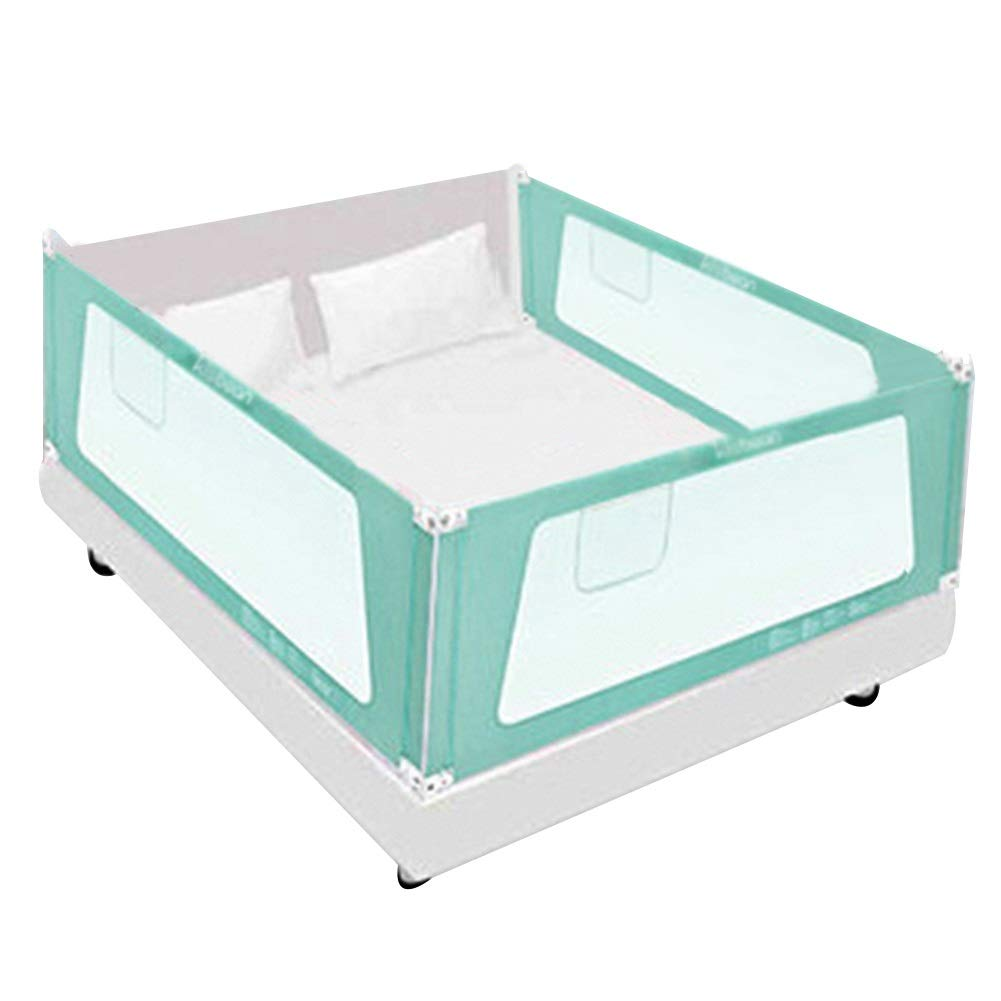 XJJUN ベッドレールベッド補助トラック3グループ(長さ2辺1フィート)垂直サイレントリフトユニバーサルマットレス、幼児に適して、2色 (色 : 青, サイズ さいず : 200x150x72-82cm) 200x150x72-82cm 青 B07RVPL2BX