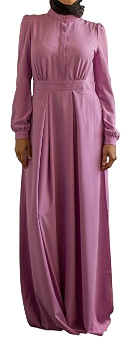 Womans Abaya Long Sleeve Trendy Lattice Maxi Dress by Urban Modesty $49.99 AT vintagedancer.com