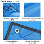 Azarxis Tarp Ultra Léger Tapis de Sol Camping Bâche sous Tente Couverture Protection Parasol Abri Auvent Imperméable… 8