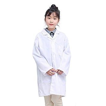Majome 1 Unids Niños Enfermera Doctor White Lab Coat Uniforme Rendimiento Superior Traje Médico: Amazon.es: Hogar