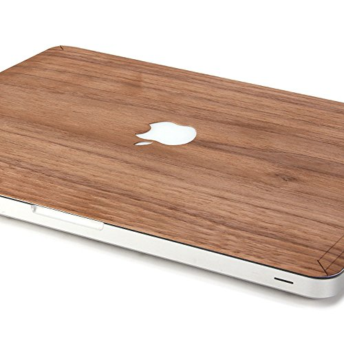 GMYLE Genuine Walnut Wood Skin Cover Decal for MacBook Pro 13 (Model: A1278) (Not Fit for MacBook Pro 13 Retina) [with 1 Year Replacement Warranty]