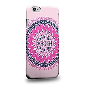 Case88 Premium Designs MANDALA Pink Parade 0787 Protective Snap-on Hard Back Case Cover for Apple iPhone 6 4.7""