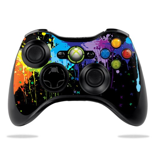 (MightySkins Skin For Microsoft Xbox 360 Controller - Splatter | Protective, Durable, and Unique Vinyl Decal wrap cover | Easy To Apply, Remove, and Change Styles | Made in the USA)