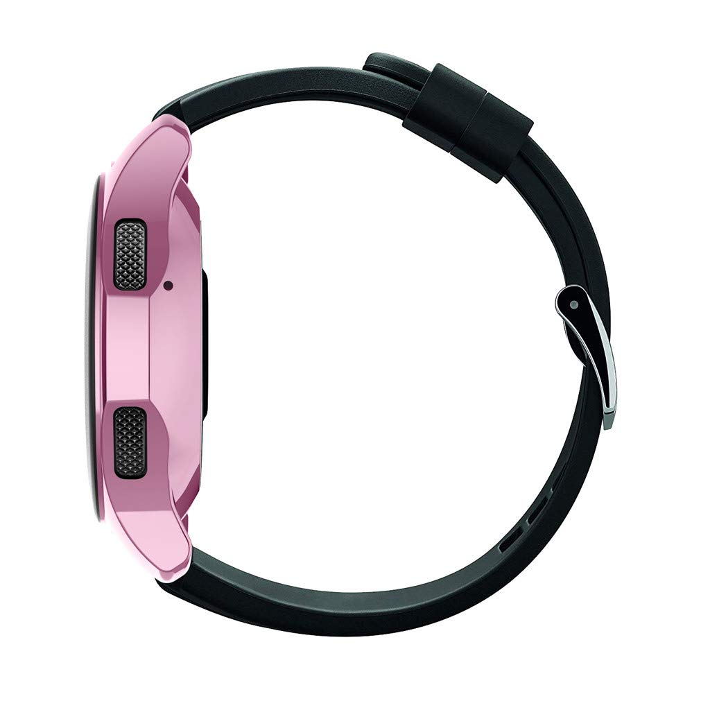 Huangou ❤❤ Smart Watch TPU Cover ❤ Ultra-Thin TPU Plating Protection Case Cover for Samsung Galaxy Watch 46mm (Pink, Free) by Huangou (Image #2)