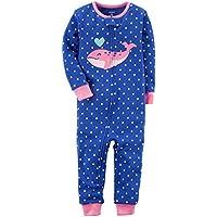Macacão Pijama Sem Pé Baleia Menina - Carter's