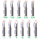BOJACK 11pcs soldering iron tips Kit and 1pcs free