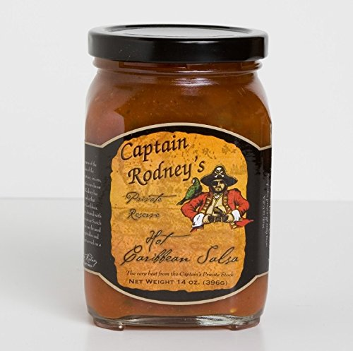 Captain Rodney's Private Reserve - Hot Caribbean Salsa 14 Ounce by Captain Rodney's
