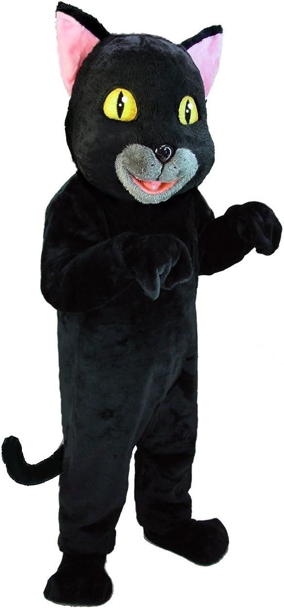 Plush Catnip the Cat Mascot Costume Adult Std Size Cartoon Halloween Black White