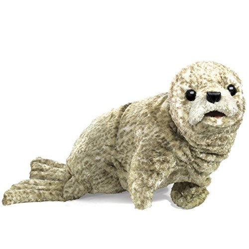 2006 Holiday Teddy - Folkmanis Harbor Seal Hand Puppet