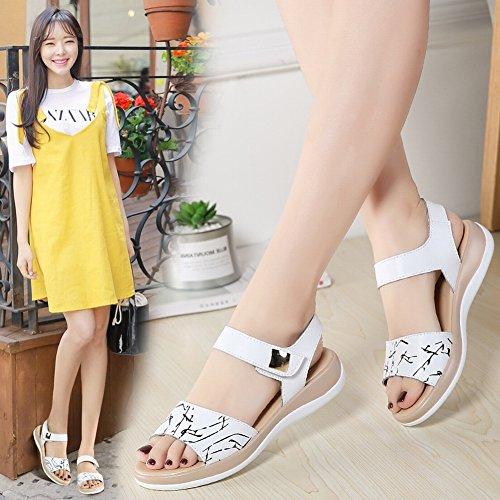 Fashion da YTTY Sandali Nero con Tacco Stampati Donna Sandali Alto xS74wRg