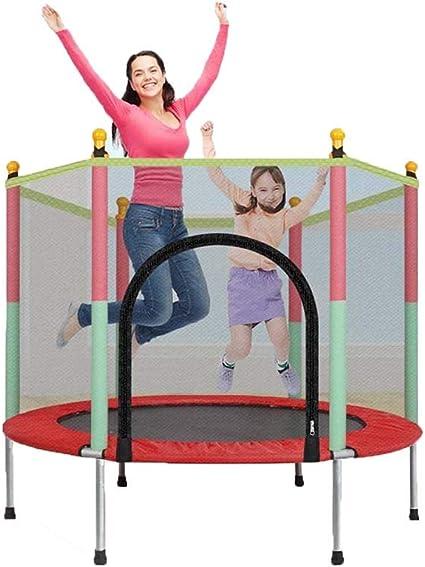 FXQIN Trampolín Cama elástica de jardín,Trampolín para niños con Red de Seguridad, Cama saltadora para Interior y Exterior, Peso máximo: 250 kg: Amazon.es: Deportes y aire libre