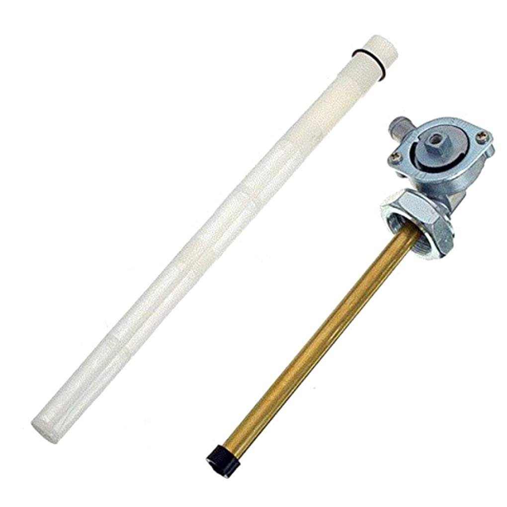 Topker F/ácil instalaci/ón del Interruptor de Combustible del dep/ósito de Gasolina Herramienta de reemplazo de v/álvula Llave de Purga para Honda VT600 1988-2007