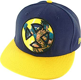 X-Men Wolverine Sublimated Action Logo Men's 59FIFTY Flex-Fit Baseball Cap, Small (7 1/8)