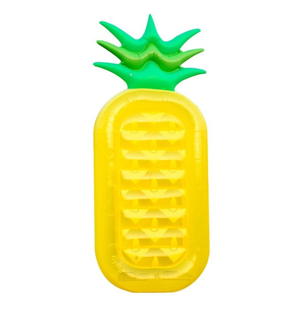 iJIAHOMIEColchonetas y juguetes hinchablesJuguetes flotantes inflables del partido del flotador de la piscina de la fila del juguete inflableSuministros de agua de PVC inflable de piña fila flotante de agua de encargo del verano natación sumi