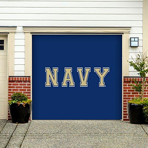 - Victory Corps 7' X 8' Single Garage Door Decor Banner Sign Mural Navy Midshipmen