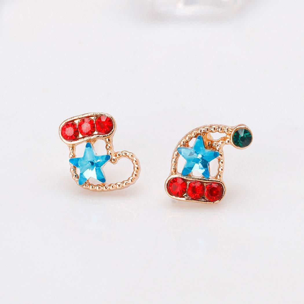 HANMAX Women Christmas Jewelry Decor Girls Christmas Sock Earrings