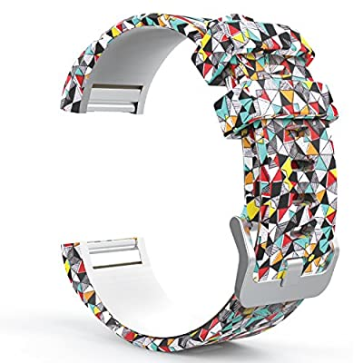 MoKo Soft Silicone Adjustable Replacement Sport Strap Band for 2016 Fitbit Charge 2 HR Heart Rate + Fitness Wristband Parent. by MoKo