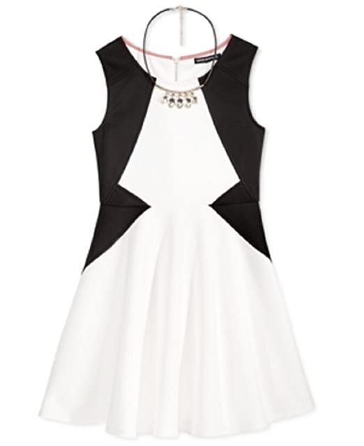 68ec40e722 Amazon.com  Sequin Hearts Girls  7-16 Style Lines Skater Dress with ...