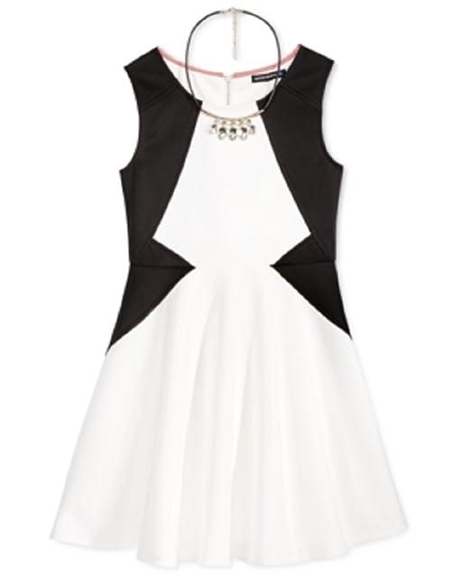 8d5922de4693b Amazon.com: Sequin Hearts Girls' 7-16 Style Lines Skater Dress with ...