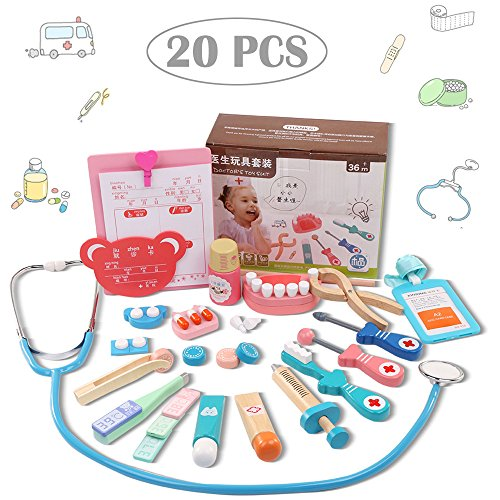 Play Doctor Kit For Dressing Up & Costumes , 20 PCS Pretend Nurse Carry Set Role Educational Play Game Toy , Medical Kits Equipment Simulation For Kids Holiday Gifts , - For Glasses Old Cash
