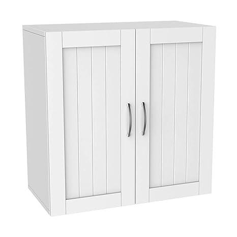 Yaheetech Kitchen Bathroom Wall Cabinet Garage Laundry Wall Storage Organizer With Inner Adjustable Shelf