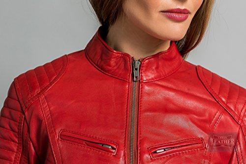 Taglia Urban Donna 258 Blu Rosso Ur Angelina Motociclista 4xl Leather T66gqW0